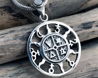 Planets Solar System and Four Element (Fire, Earth, Air, Water) Symbols Pendant Necklace SKY062