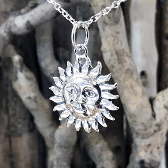 Basque Flower Necklace CRS073x Sun Pendant Necklace Silver Sun Necklace Eguzkilore Necklace Flower of The Sun Pendant Necklace