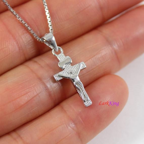 Sterling Silver Jesus Cross Small Pendant