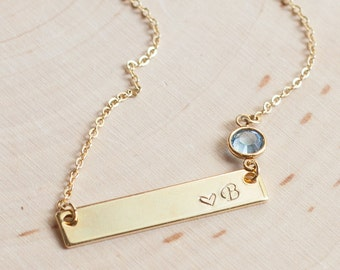 Personalized Bar Necklace for Women inspirational her Custom name necklace gifts for women Personalized Necklace
