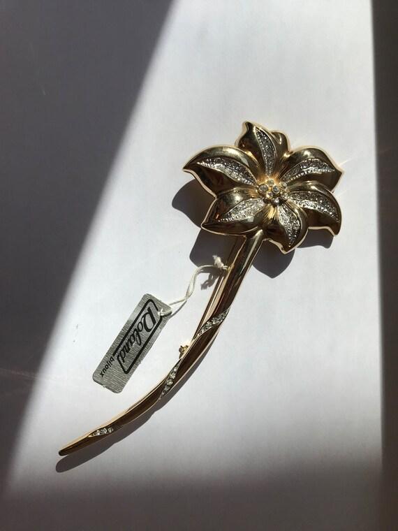Vintage flower brooch  | Cute flower brooch pin