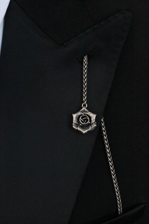 The Silver Lapel Chain