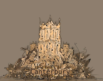 Canterbury Cathedral-A3 Sized Print