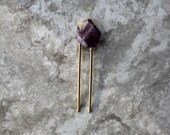 Amethyst Stone GEM Hair Pin