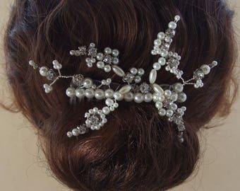 Ivory pearl bridal slide