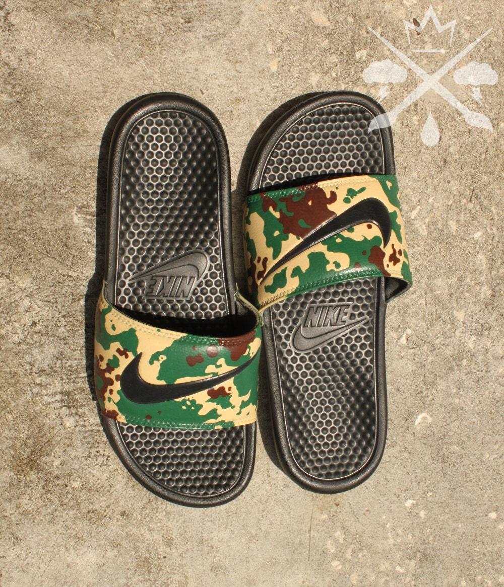 online store a0003 72842 Nike Custom Military Camouflage Benassi Swoosh Camo ...