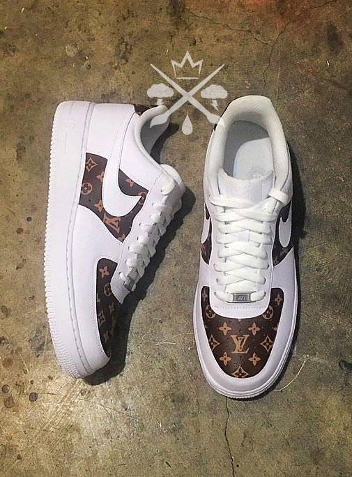 9edccdb0a5d Nike Louis Vuitton LV Air Force 1 One Low top Luxury Designer Custom Men s  White Sneaker. gallery photo gallery photo