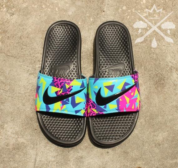 f3fdede1f Nike Custom Bel-Air Jordan 5 Fresh Prince Benassi Swoosh Slide