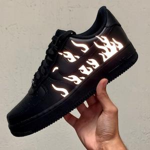 Flammes réfléchissantes Nike Air Force 1 Custom Air Force 1s | Etsy
