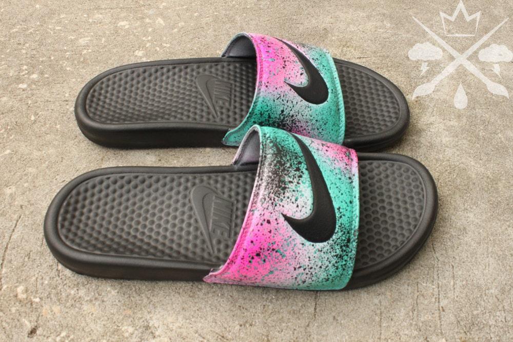 info for 9800f 97cec Nike Custom LeBron 8 Miami Nights Benassi Swoosh Slide Sandals Flip flops  Men s. gallery photo gallery photo gallery photo gallery photo gallery photo