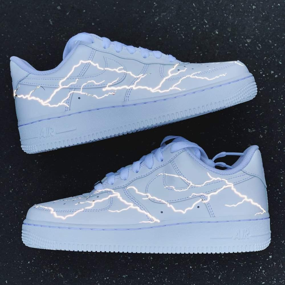Reflective Lightning Nike Air Force 1 | Custom Air Force 1s