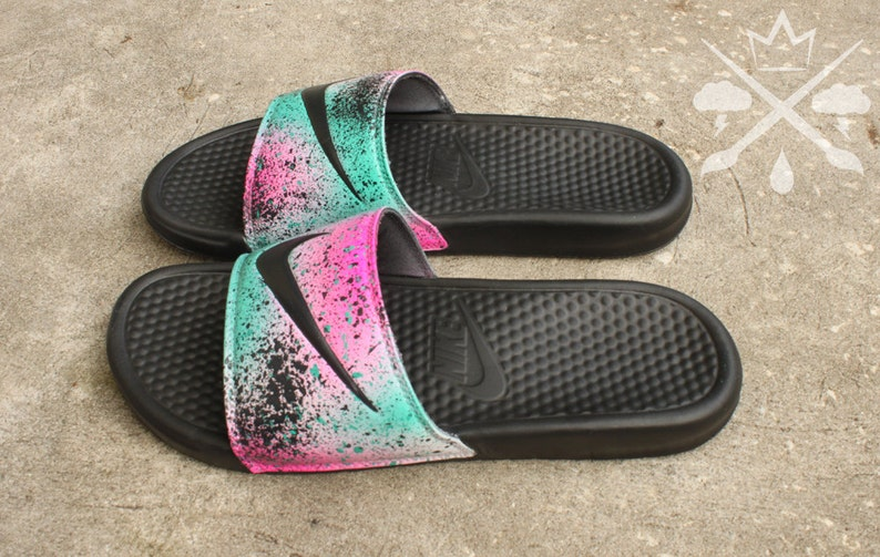 4c3d3e89e441d Nike Custom LeBron 8 Miami Nights Benassi Swoosh Slide Sandals