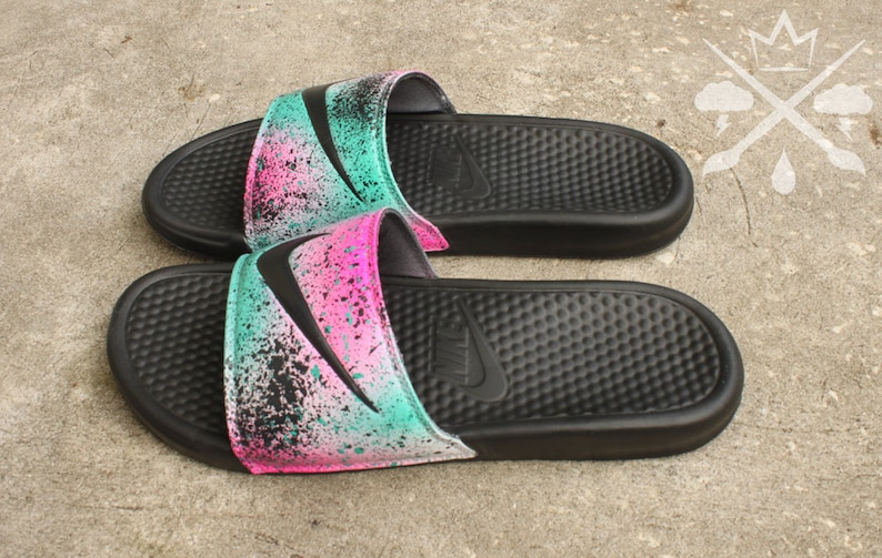 427db945b88140 Nike Custom LeBron 8 Miami Nights Benassi Swoosh Slide Sandals