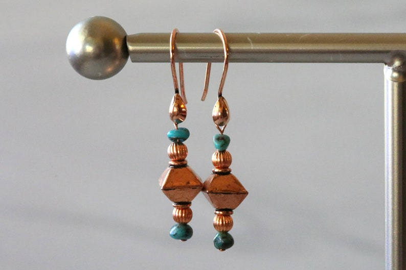 Sonoran Turquoise and Copper Earrings