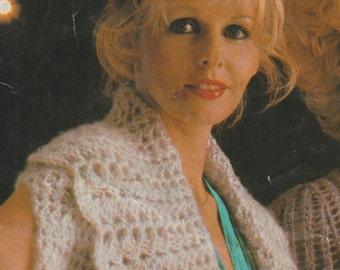 Ladies Crochet Pattern, Crochet Pattern,Crochet Jacket Pattern,Sleeveless Jacket, Instant Download,Vintage Crochet Pattern,1970's