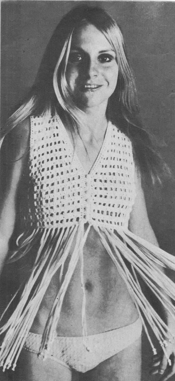 Hippie Vest Ladies Crochet Pattern Crochet Patternvest With