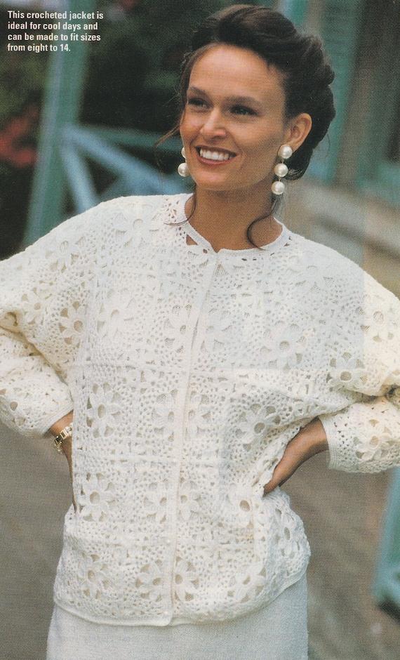 FUNKY VEST 3 lengths /& CAP 8ply or D.K COPY Ladies crochet pattern