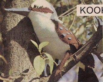 Sewing Pattern PDF, Kookaburra, Kookie, Australian Bird, Australiana, Aussie, Toy Pattern, Felt Toy Pattern, early 1970's, Digital Download