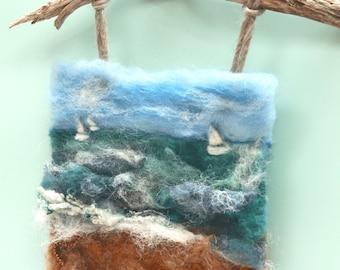 Needle felted picture pattern - pdf pattern download for needle felted picture - Learn to paint with wool