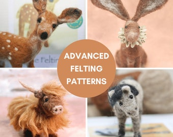 Needle Felting Patterns For Advanced Beginners And Improvers - Say hello to creativity!