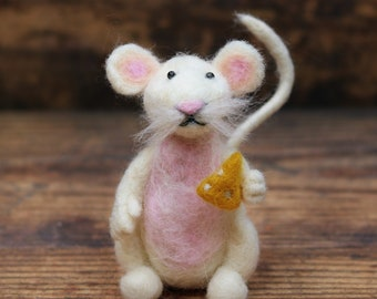 Mouse Needle Felting Pattern for beginners - Needle felting PDF pattern instant download