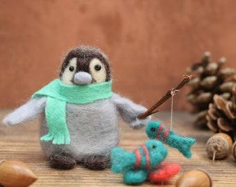 Penguin Needle Felting Pattern – Percy's Gone Fishing