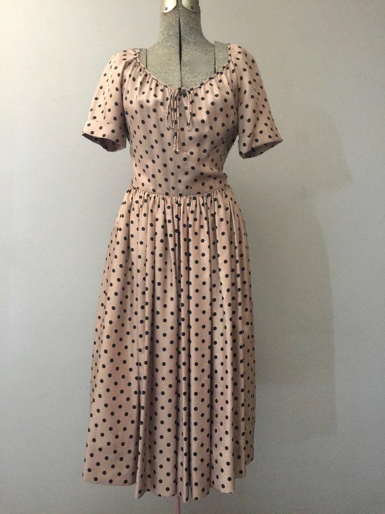 51ee3dd52afbe4 Weinlese-Frauen Polka Dot Kleid kleine 50er Jahre 1950 Kleider | Etsy