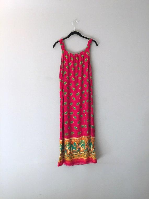 Vintage Boho DressCover Up  with Pocket