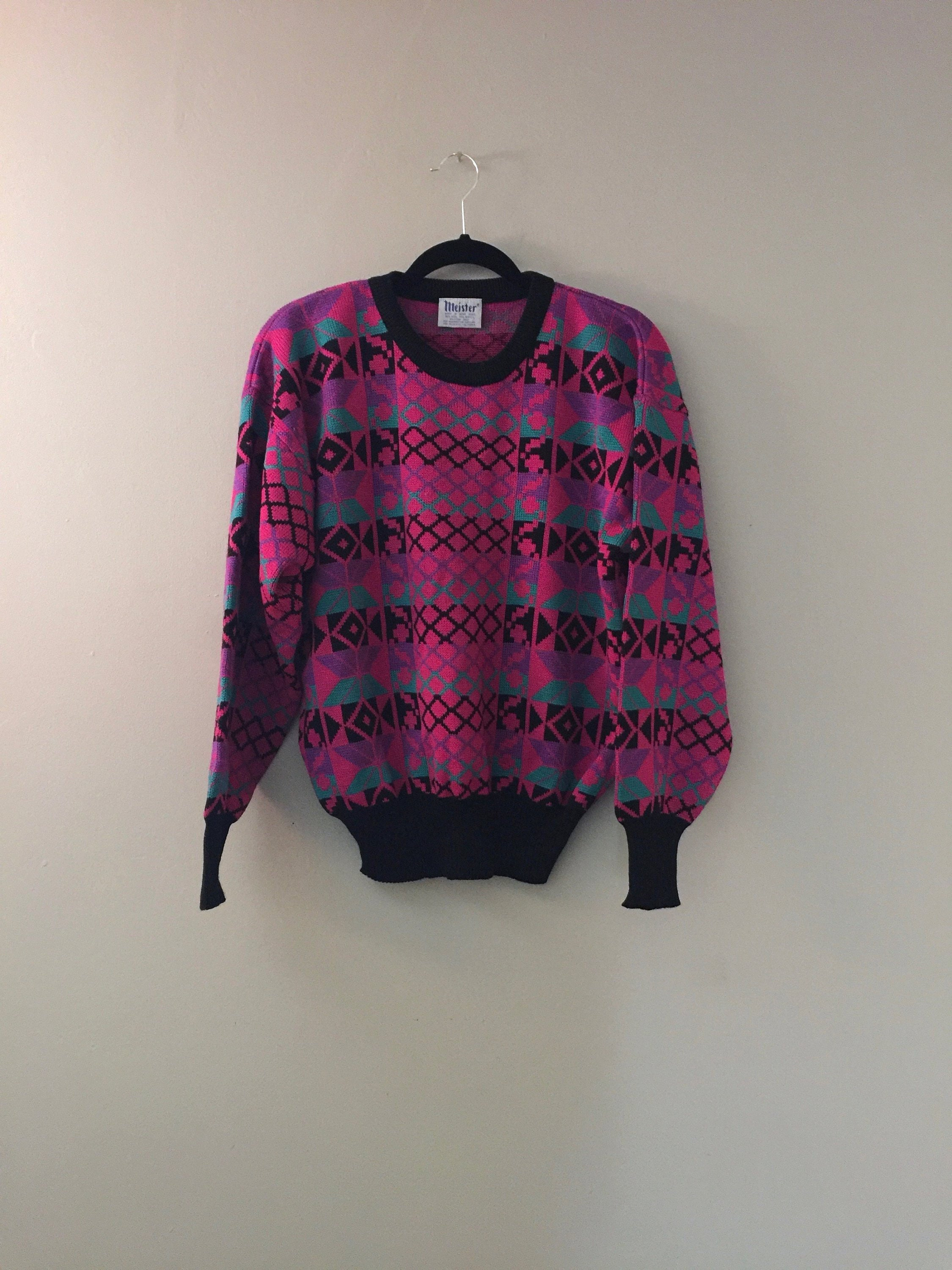 2bc1f0ce6b9 Ski Sweaters for Women 80s Sweater Ski Vintage Wool Pullover