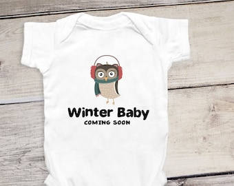 winter baby announcements