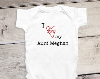 Aunt uncle stylish littles i love my aunt onesie personalized gift for aunt baby reveal aunt shirt custom gift negle Image collections