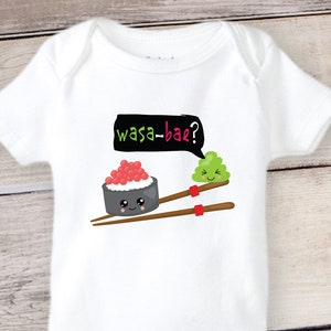 Funny Baby Onesie Funny Sushi Asian Baby Onesie Baby Clothes Wasa Bae