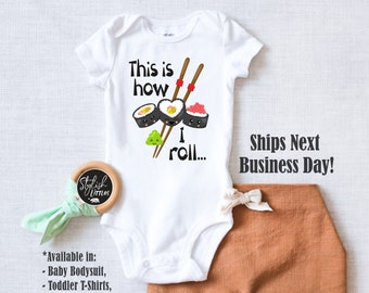 Shower Gift Baby Halloween Costume Onesie Sushi Roll Funny unisex baby clothes