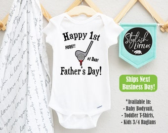 Baby Romper Funny Cat Happy First Fathers Day