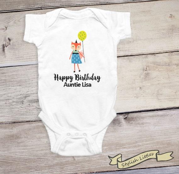 Glucklich Geburtstag Tante Personalisierte Aunt Onesie Etsy
