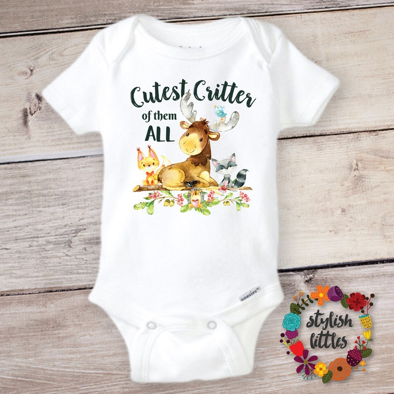 196c4d5bf Funny Baby Onesie ® Cute Critter Onesie Hipster Baby Funny | Etsy