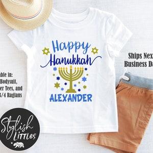 Festival Of Lights Baby Personalized First Hanukkah Baby Girl Bodysuit 1st Chanukkah