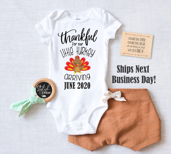 Personalized Thanksgiving Turkey Pregnancy Announcement