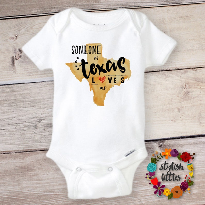 Texas Love Onesie® Someone in TEXAS Loves Me Baby Bodysuit image 0