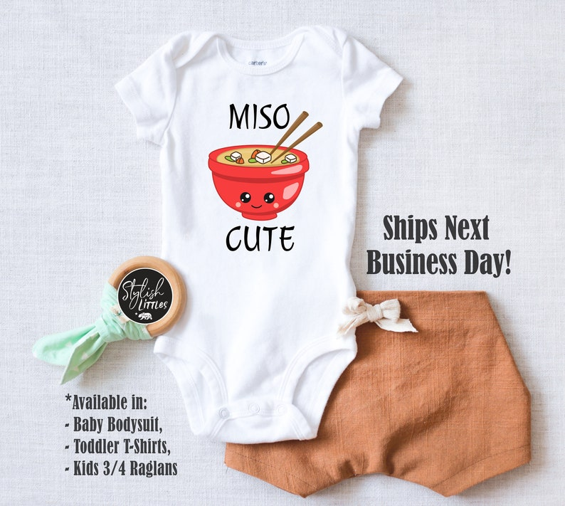 Japanese Asian Food Newborn Bodysuit Miso Cute Funny Baby Onesies\u00ae Kids Birthday Gift Coming Home Onesie\u00ae Baby Shower Unisex Gift