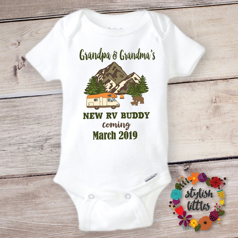 8c9bcaa7e Pregnancy Announcement Grandparent Onesie ® a cute baby reveal | Etsy