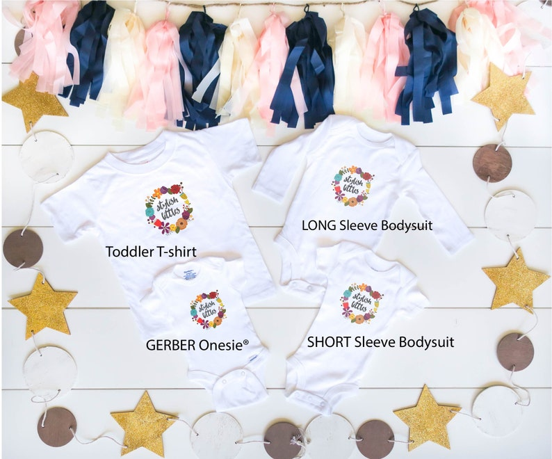 Personalized Christmas Baby Onesie \u00ae a Custom Name Dear Santa Bad Sister Merry Xmas Holiday Newborn Bodysuit and Kids Shirt