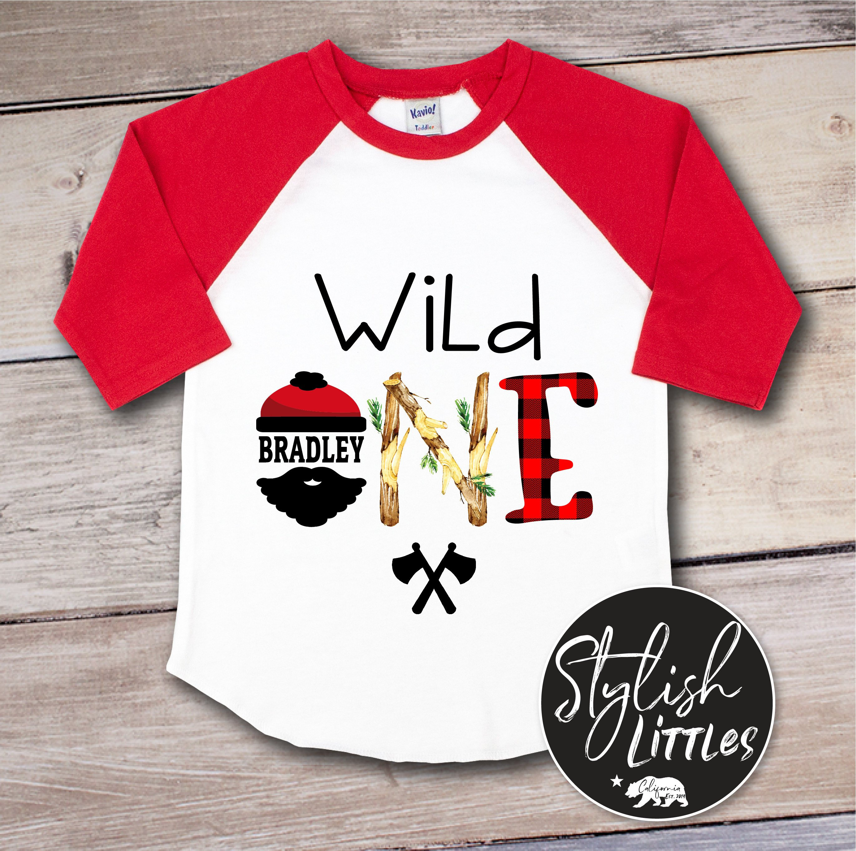 ac649cf8f Personalized 1st First Birthday Shirt Custom Name Wild One 1 | Etsy