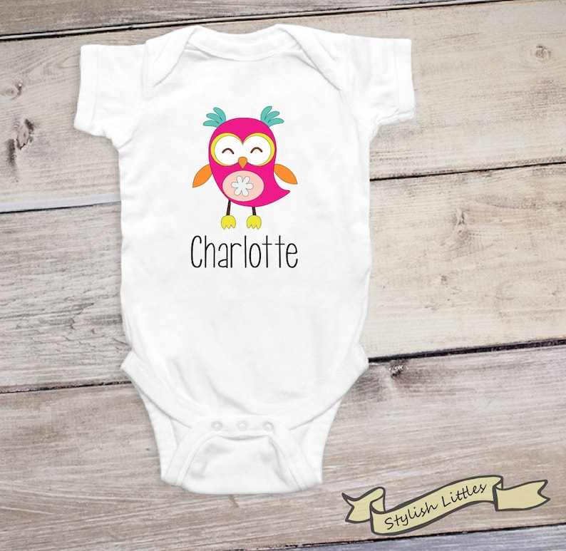 b8470d9af Cute Personalized Onesie® Owl Custom Gift for Babies | Etsy
