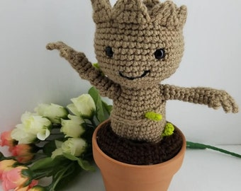 Baby Groot, removable, Pot