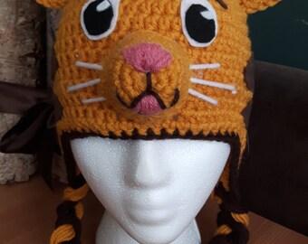 Daniel the Tiger inspired crochet hat