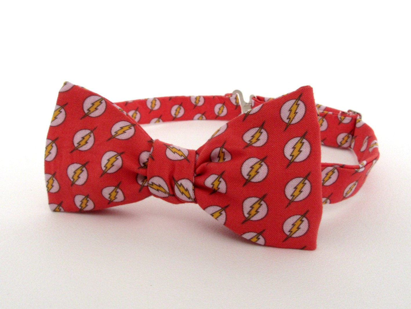 The Flash Bow Tie Self Tie DC Comics Red Lightning Bolt Super   Etsy