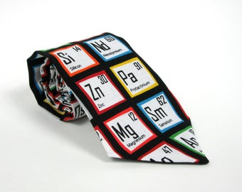 Periodic table tie etsy periodic table of the elements necktie chemistry math science teacher gift for him chemist lab urtaz Gallery