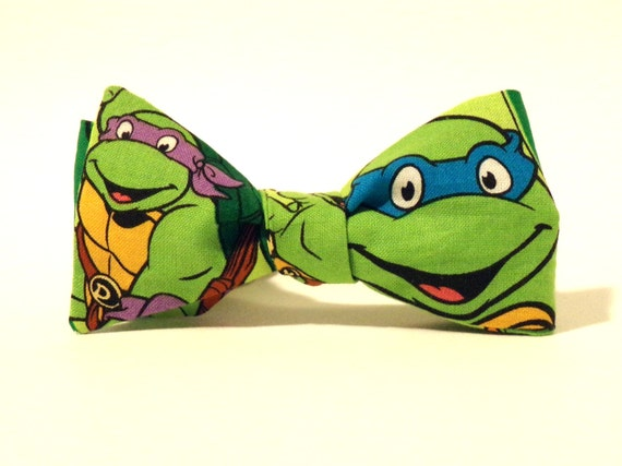 Ninja turtle bow tie self tie green child green cotton etsy image 0 ccuart Gallery