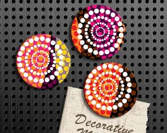 Whimsical Magnets, Gift Set, Fridge Magnets, Set of 3 Handmade Wood Refrigerator Magnets, Kitchen Decor, Housewarming Gift, Locker Decor